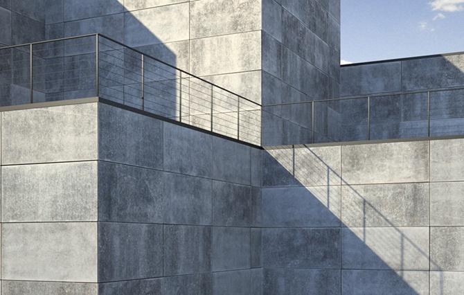 Бетонный фасад