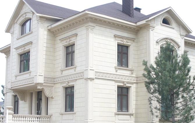 Фасад из фибробетона