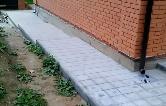 Отмостка из тротуарной плитки