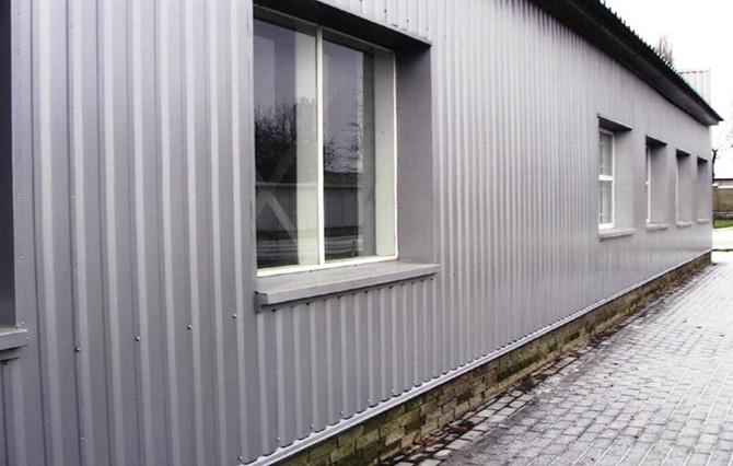 Фасад из профнастила