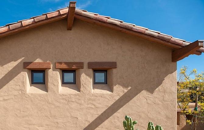 Фасад из силикатной штукатурки