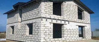 Дом из газосиликатных блоков
