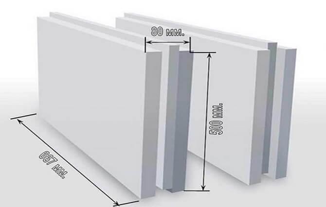 Пазогребневый блок и его размеры