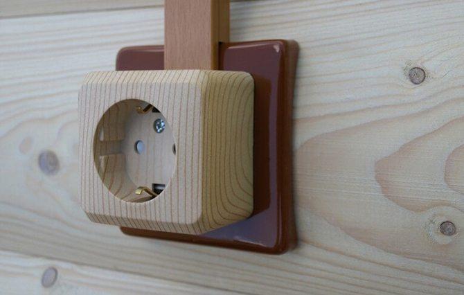 Накладка между розеткой и деревянной стеной