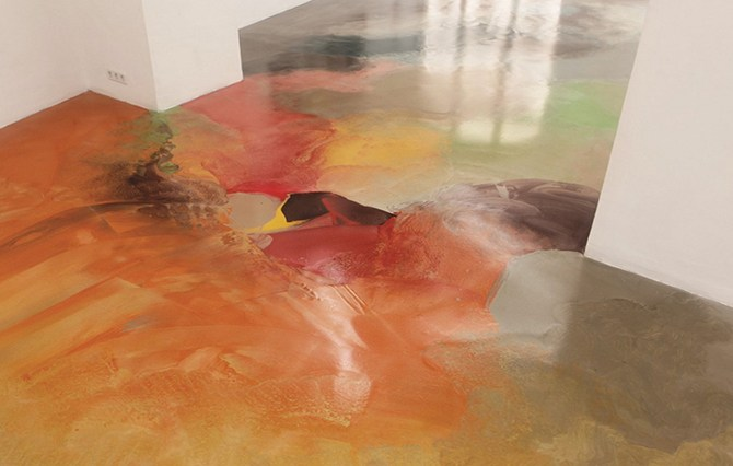 Разноцветный наливной пол
