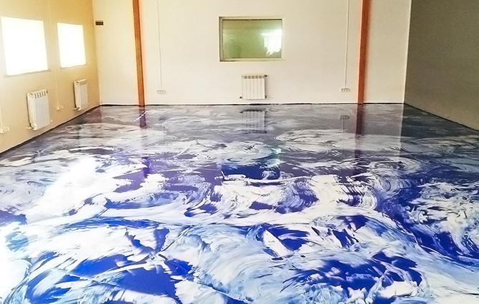 Декоративное покрытие наливного пола
