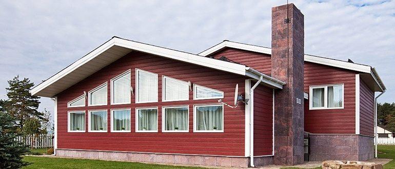 Дом с фиброцементными панелями