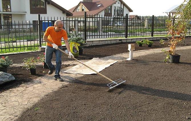 Планировка участка под газон